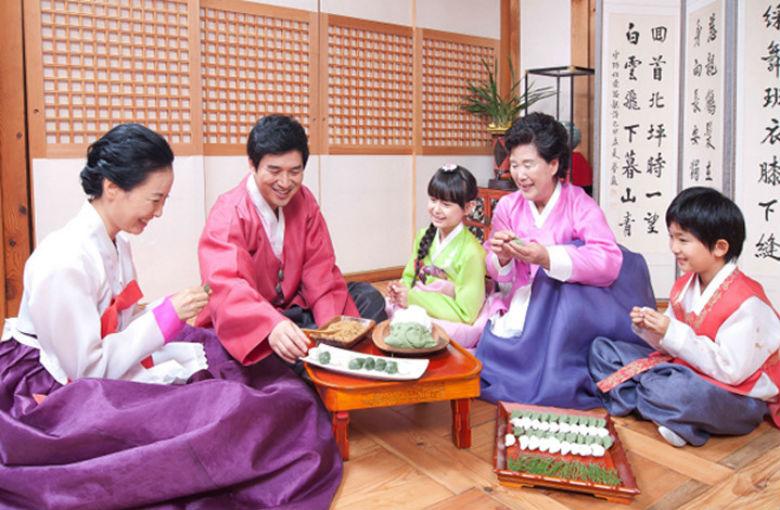 Tết trung thu ở Hàn là dịp gia đình tụ họp bên nhau